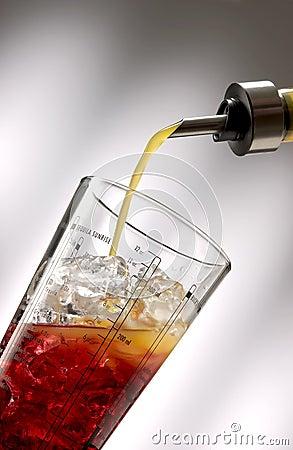 Pour orange liquid