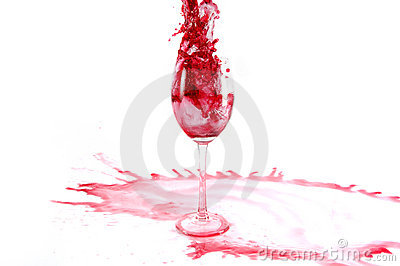 Pour wine into glass