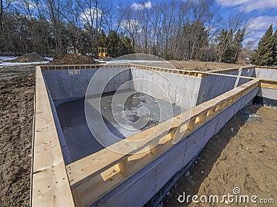 New House Foundation Construction