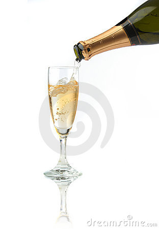 Free Pouring A Champagne Flute Royalty Free Stock Photos - 1456628