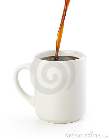 Pouring a American Black Coffee