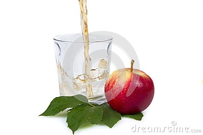 Pouring apple juice