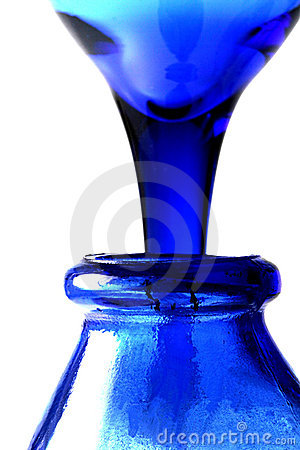 Pouring Blue