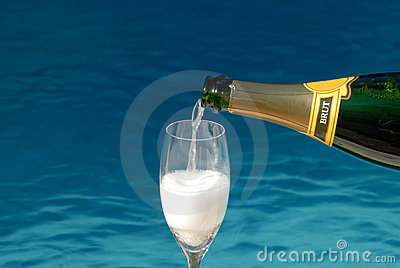 Pouring Champagne Royalty Free Stock Photos - Image: 3226958