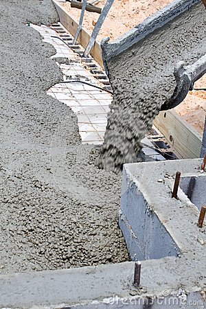 Pouring Concrete Slab Stock Photo Image 42311695