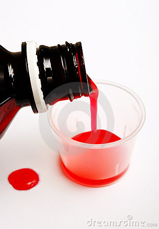 Pouring Cough Syrup