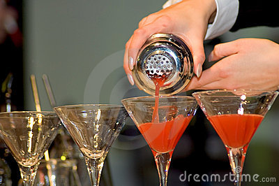 Pouring the drinks