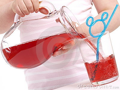 Pouring juice