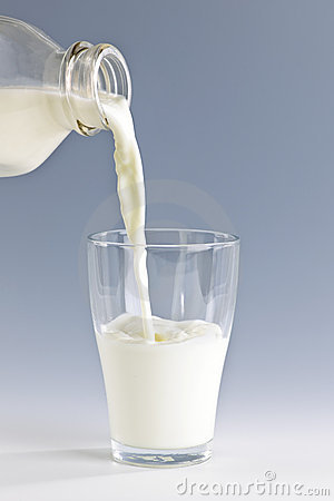 Pouring Milk Stock Photo - Image: 2287410