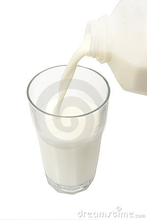 Pouring Milk In A Glass Stock Image - Image: 5115821