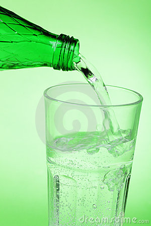 Pouring mineral water