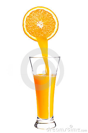 Pouring orange juice