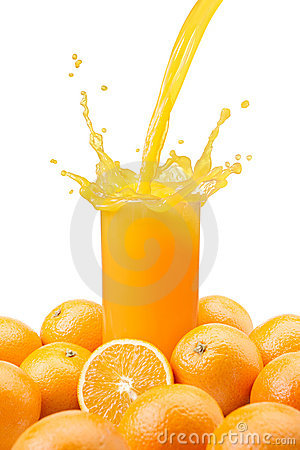 Free Pouring Orange Juice Royalty Free Stock Photography - 19713707