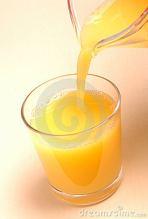 Pouring Orange Juice in Glass
