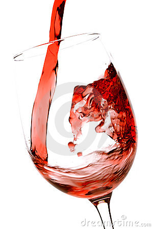 Free Pouring Red Wine Stock Photography - 15988022
