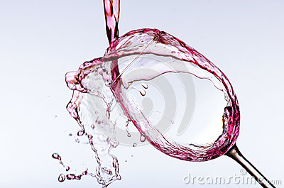 Pouring wine in glass