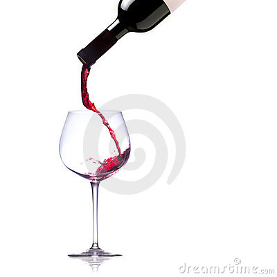 Free Pouring Red Wine Into Glass Royalty Free Stock Photo - 19414465