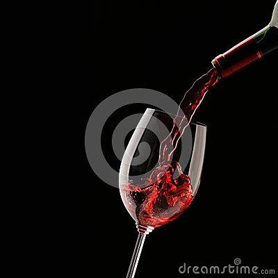 Free Pouring Red Wine Into Wine Glass Royalty Free Stock Images - 50628489