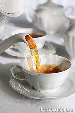 Free Pouring Tea. Stock Photo - 2282980