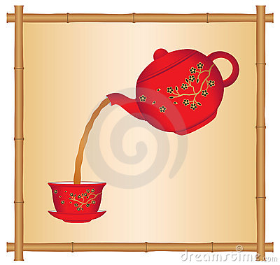 Pouring Tea from a Chinese Teapot
