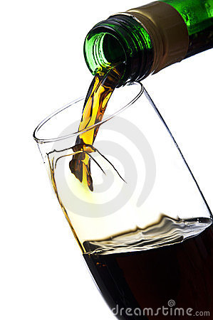Pouring unusual beverage