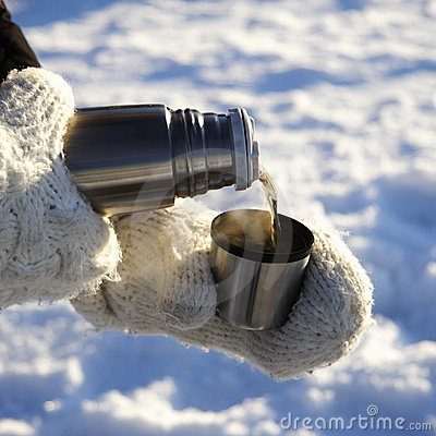 Free Pouring Warm Drink Outdoors Royalty Free Stock Photo - 7774965