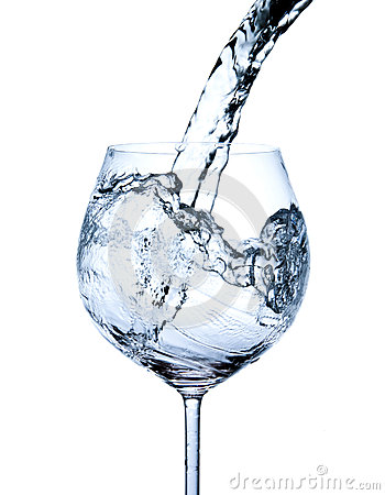 Free Pouring Water Into Glass Royalty Free Stock Photo - 26884115