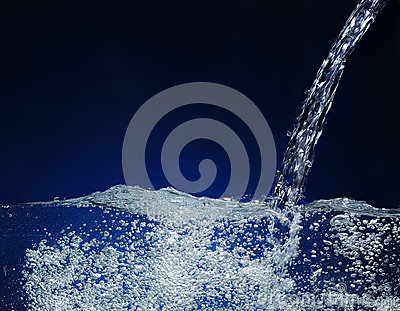 Pouring water  Splash