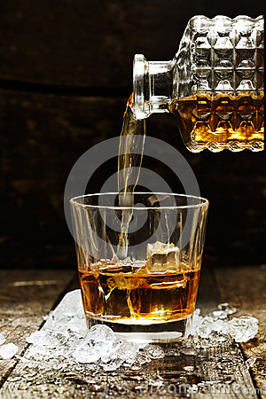Pouring Whiskey or Scotch