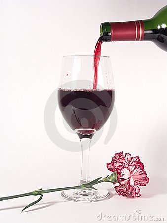 Free Pouring Wine Carnation Royalty Free Stock Images - 617919