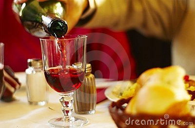 Pouring Wine With Dinner