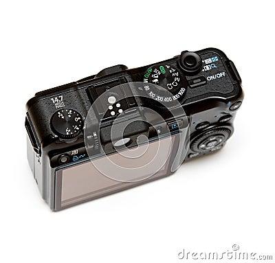 Pousse digitale de point d appareil-photo