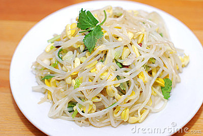 Pousses d haricot chinoises de nourriture