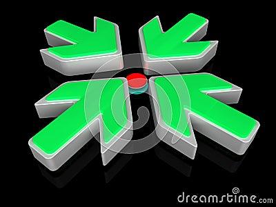 poussez le petit bouton rouge photo libre de droits image 33448885. Black Bedroom Furniture Sets. Home Design Ideas