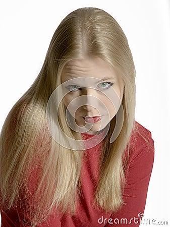 Pouty Blonde