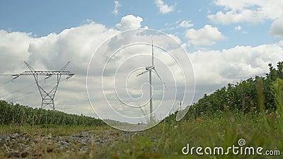 Pouvoir d'Eco, turbines de vent clips vidéos