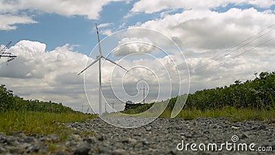 Pouvoir d'Eco, turbines de vent banque de vidéos