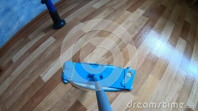 POV motion a mop stock video footage