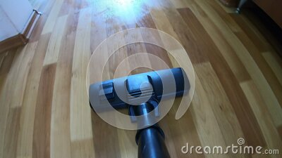 POV motion a vacuum cleaner stock video footage