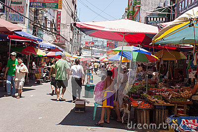 Asia market Editorial Stock Photo