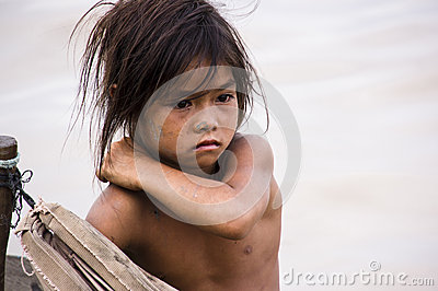 Poverty Girl Editorial Stock Image