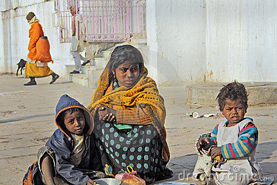 Poverty in India Editorial Stock Photo