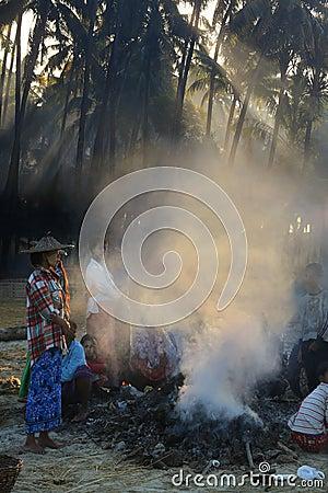 Poverty - Myanmar - Burma Editorial Stock Image