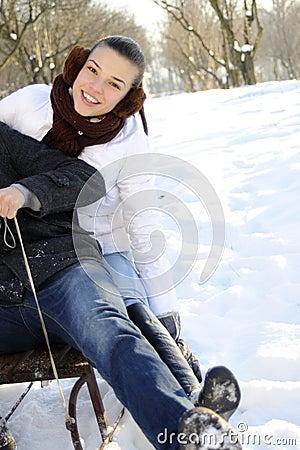 Povos que têm o divertimento no sledge