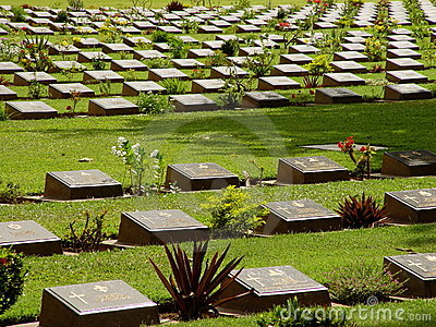 POW Cemetery, Kanchanaburi. Editorial Photo