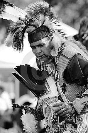 Pow Wow 29 BW Editorial Photo