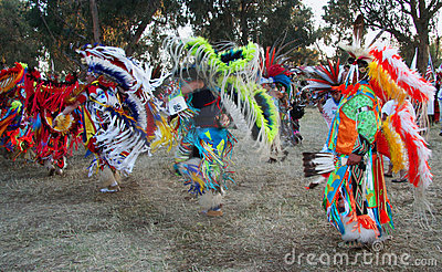 Pow Wow dancers Editorial Image