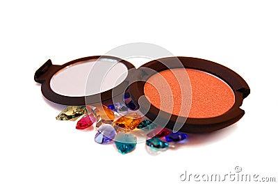 Powder Blush over Swarovski Crystal