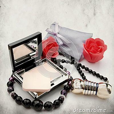 Free Powder-box And Lipstick Stock Photography - 23179632