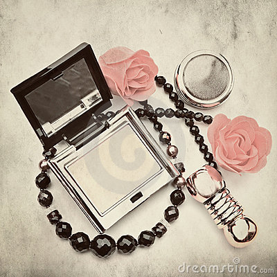 Free Powder-box- Picture In Retro Style Stock Images - 21680644